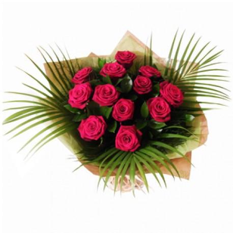 Hot Rose Dozen